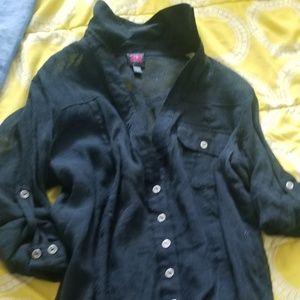 Black summer blouse